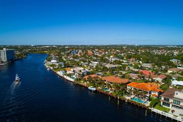 Aerial image of luxury homes in Hillsboro Florida