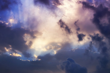 image of sunrise sky with clouds