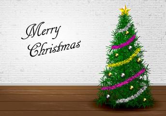 クリスマスツリー A 背景白