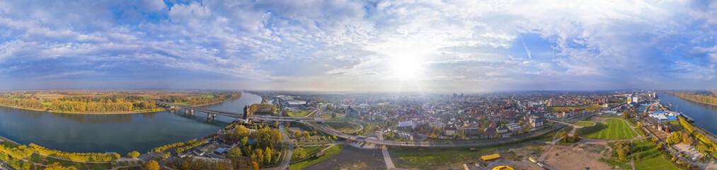 Luftbild Worms am Rhein