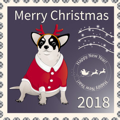 Postage stamp with chihuahua 2