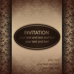 Invitation card template in old style