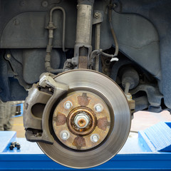 Shock absorber and brakes