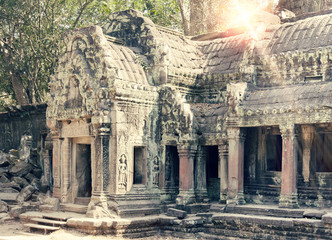 Temple ruins (XII th Century) , Siem Reap, Cambodia,toning