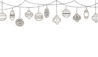 Set of vector illustration of christmas bauble