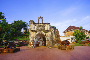 A famosa Fortress melaka. The remaining part of the ancient fortress of malacca.