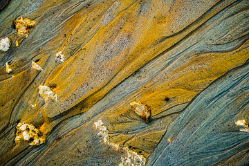 Blue and golden sand texture