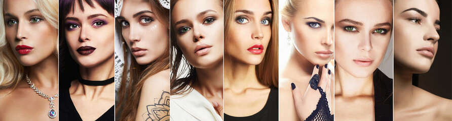 beauty collage.Faces of women