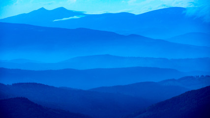 Printed roller blinds Mountains evening in Carpathians
