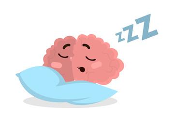 Isolated sleeping brain.