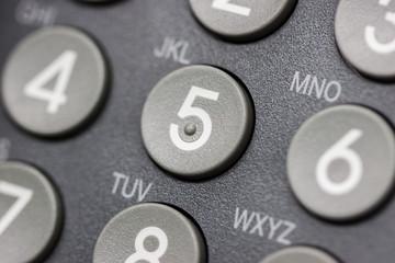Ausschnitt der Tastatur  von einem Telefon