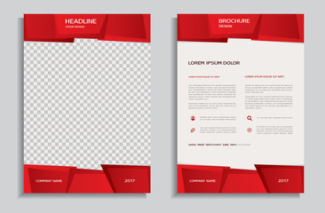 Red brochure template