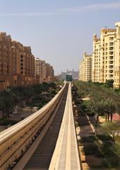 Monorail at the Palm Jumeirah in Dubai