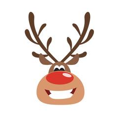 Isolated christmas deer.