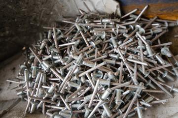 Pile of pop-rivets/blind rivets