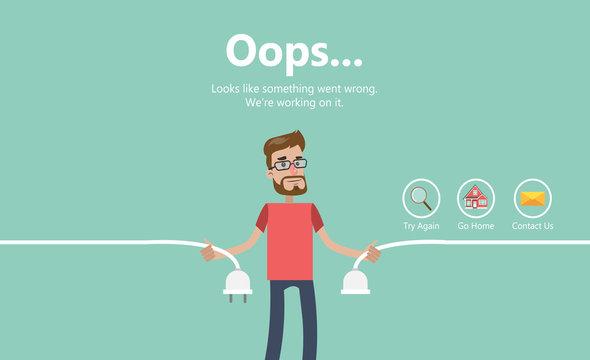 Error page illustration.