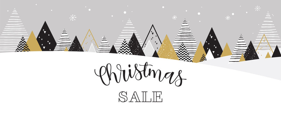 Christmas winter landscape background. christmas sale. Abstract Vector