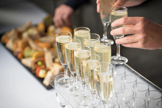 Coupe de champagne, cocktail, vin d'honneur