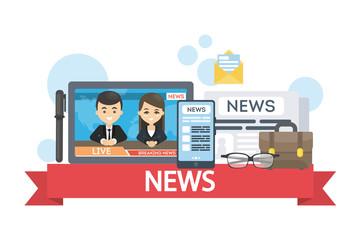 News concept illustration.