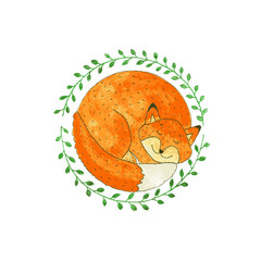 Vector Watercolor Fox