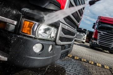 Semi Truck Tractor Washing