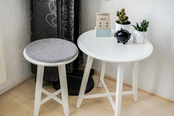 indoor small chair and table