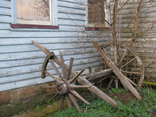 An old decayed weathered plow