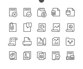 Report UI Pixel Perfect Well-crafted Vector Thin Line Icons 48x48 Ready for 24x24 Grid for Web Graphics and Apps with Editable Stroke. Simple Minimal Pictogram