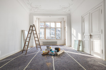 renovation - old flat during  restoration / refurbishment