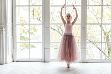 Young ballet dancer in dance class
