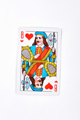Jack of hearts playing card. Jack of hearts playing card from cards deck isolated on white background.