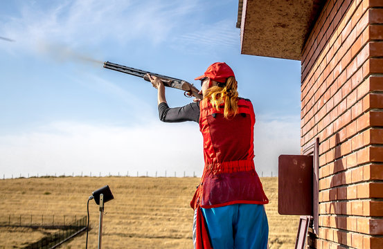 Sports shooting with a gun - Sport shooting with a gun girl