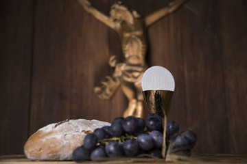 Jesus Christ, sacrament of communion background