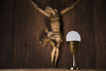 Jesus Christ, sacrament of communion background