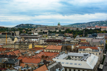 Cityscape of Budapest and Buda Castle (Royal Palace), Hungary. Old european town