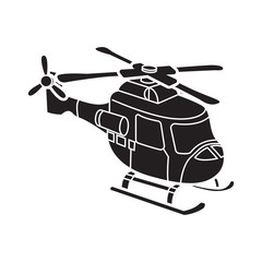 cute helicopter vector cartoon