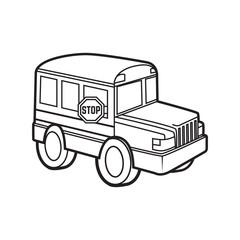 cute school bus vector cartoon