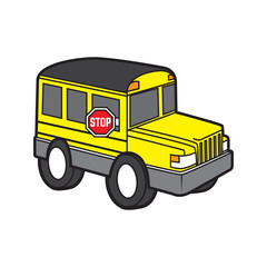 cute school bus vector cartoon