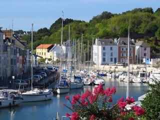 Port de plaisance du Palais à Belle-Île-en-Mer en Bretagne (France)
