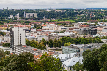 Aerial view of Kaunas, Lithuania