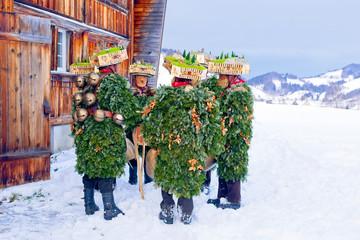 Silvesterklaus, Julian New Year, Appenzell, Switzerland