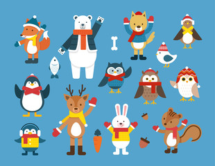 Winter animal illustration
