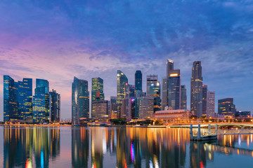 Business and financial center of Singapore, Marina bay, Bayfront