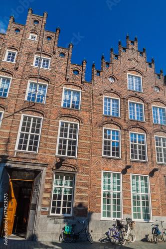 Old brick buildings in Den Bosch, Netherlands