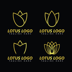 Lotus Logo Vector Template Design