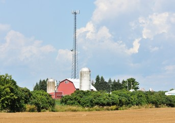 Cell Tower on Farm