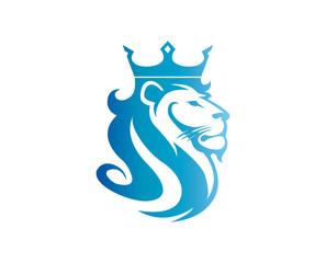 Lion Logo Design Template Flat Style Design. Vector Illustration