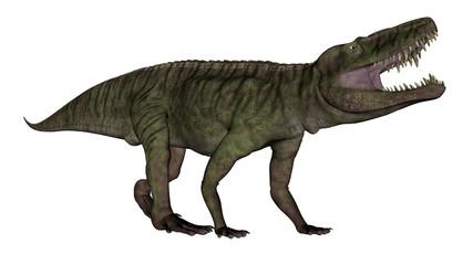 Batrachotomus dinosaur roaring -3D render