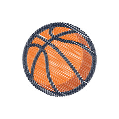 Ball basketball drawing