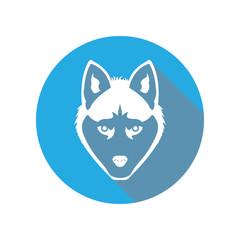 Wolf flat Head Icon